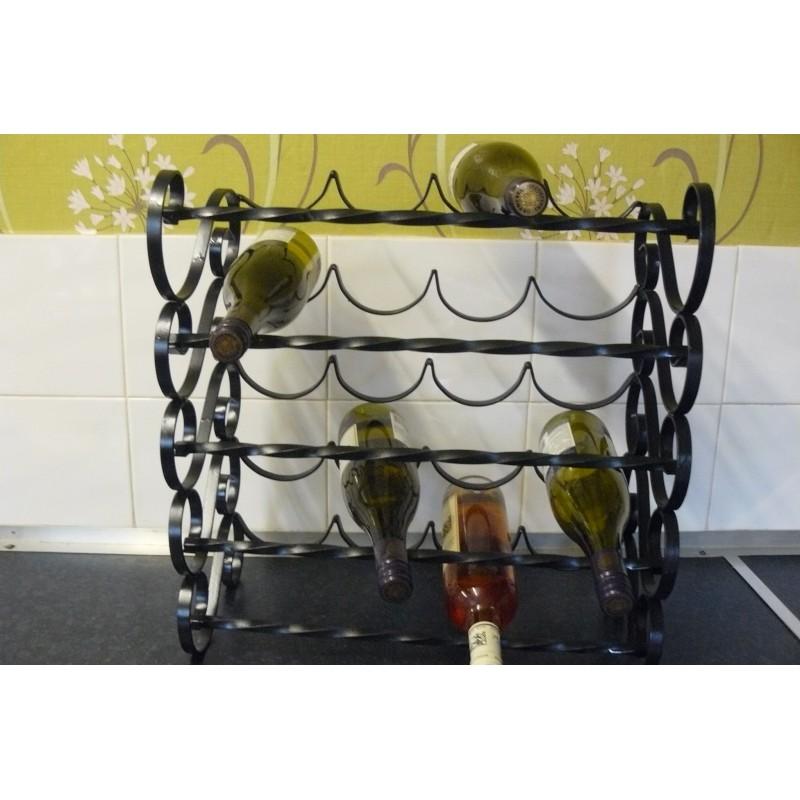 Wine Rack 20 Bottle Wrought Iron