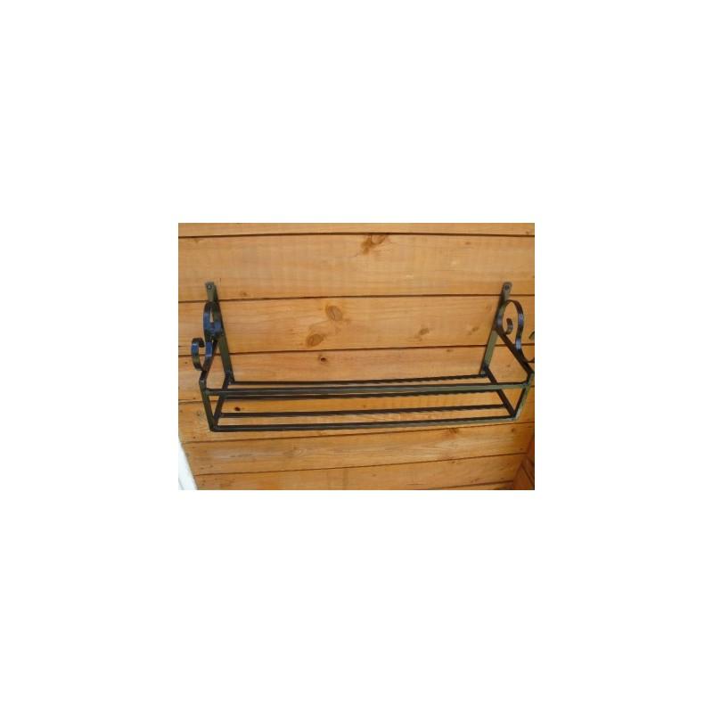 Window Box Trough Holder Wrought Iron Handmade 36in Length