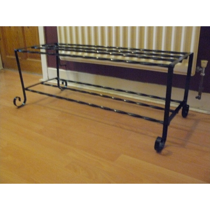 Shabby chic wrought iron shoe rack Stylish shoe rack