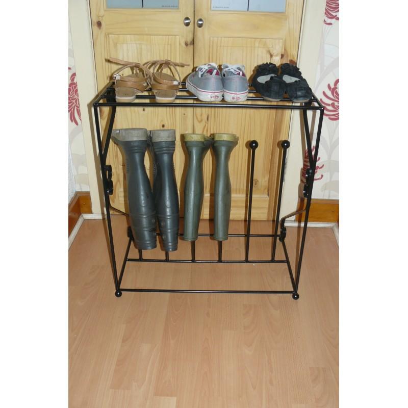 welly boot shoe rack organiser. Black Bedroom Furniture Sets. Home Design Ideas