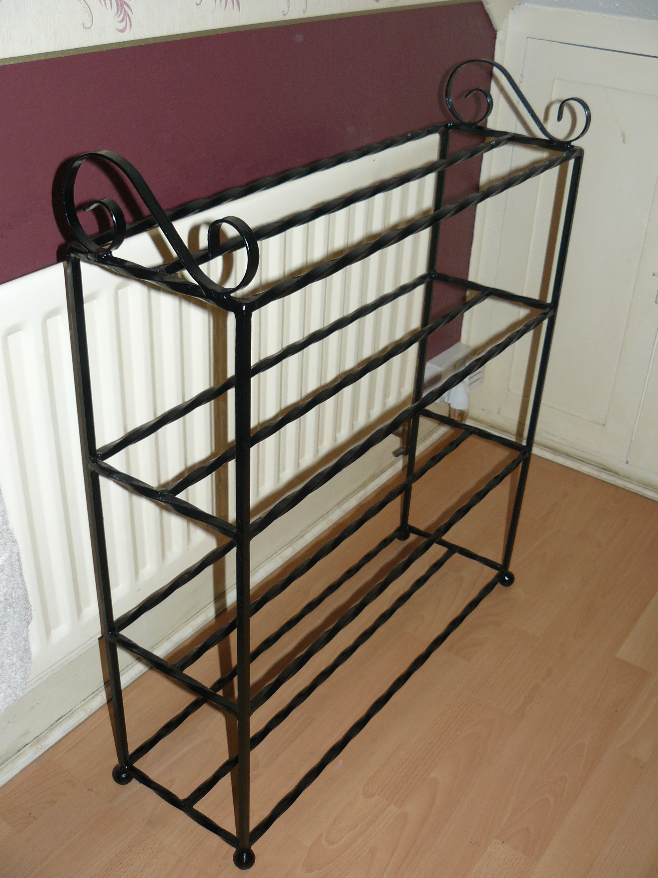 12 to 16 pair shoe rack wimborne wrought iron works