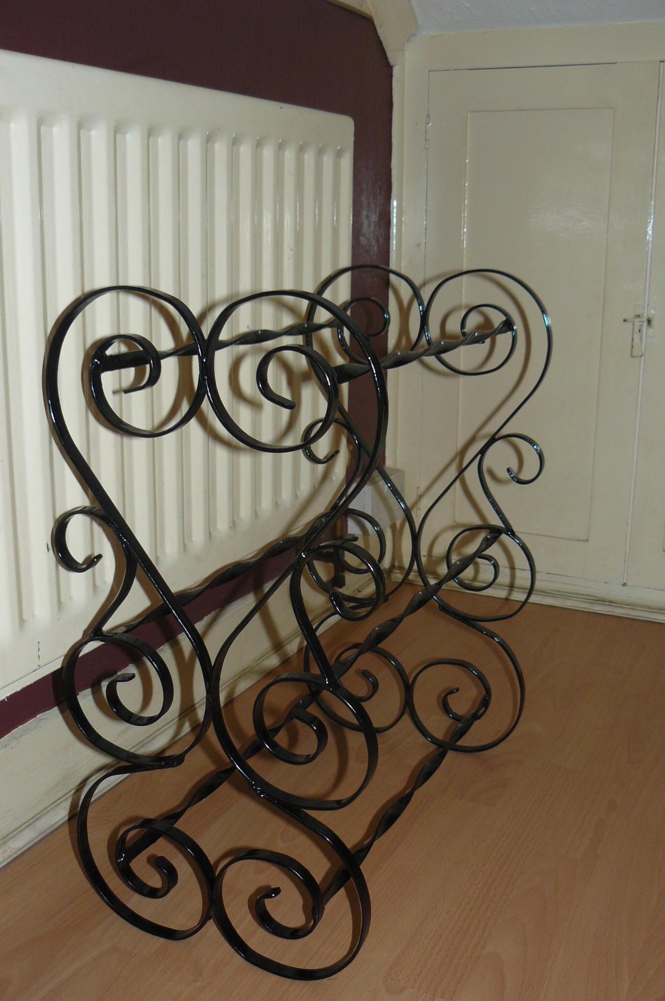 scrolled shoe rack 6 pair wimborne wrought iron works
