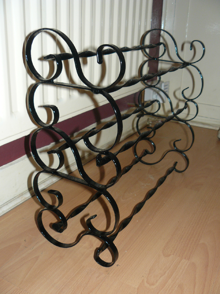 9 pair shoe rack wimborne wrought iron works