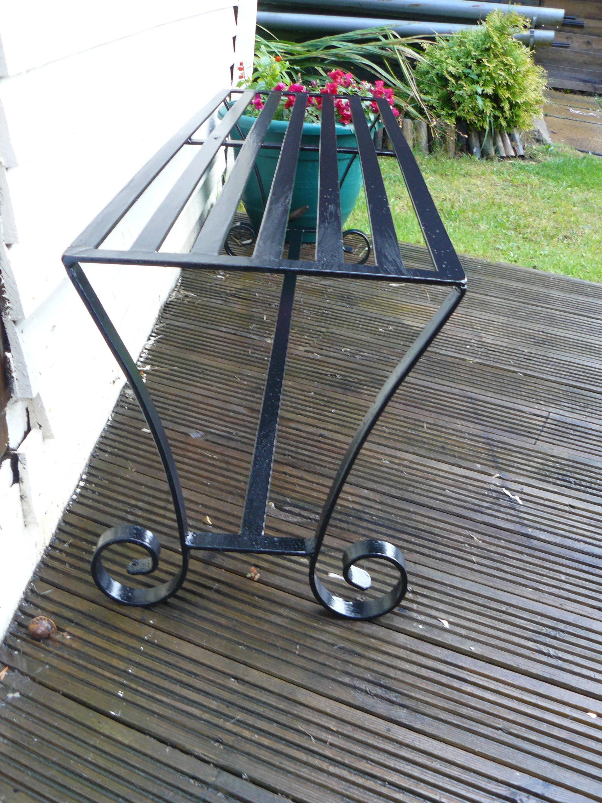 Garden bench wimborne wrought iron works
