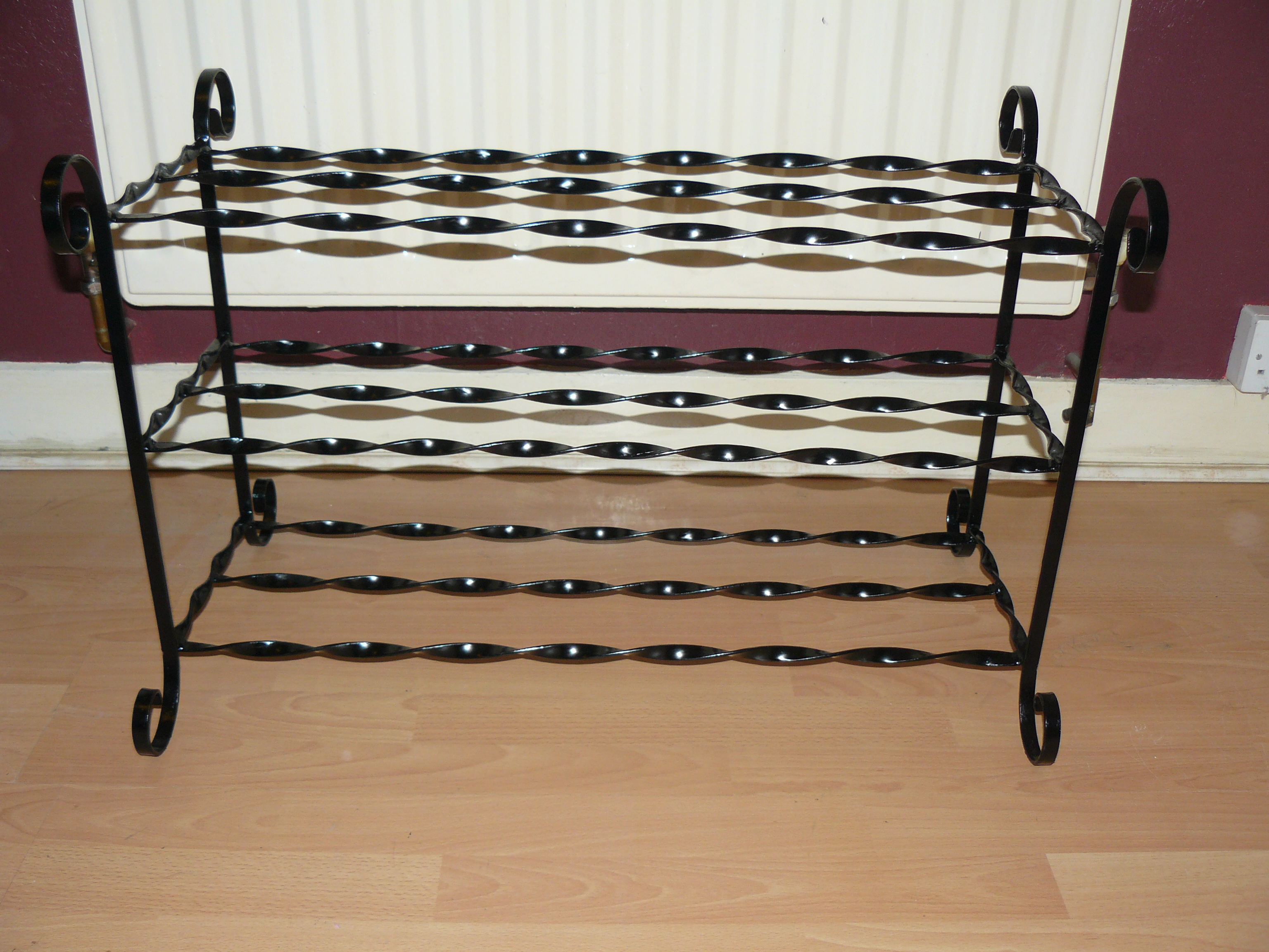 wimborne wrought iron works sophia shoe rack