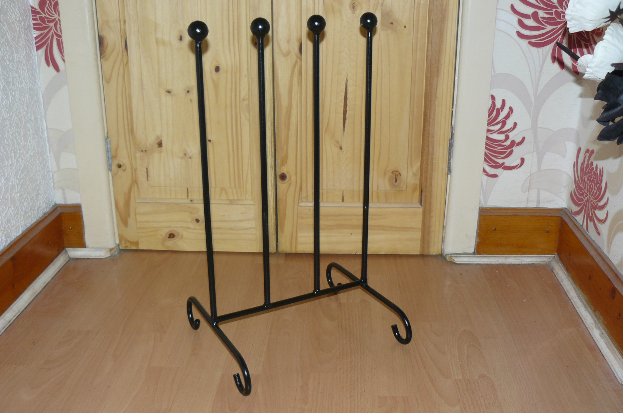 wimborne wrought iron works wellington boot holder round bar